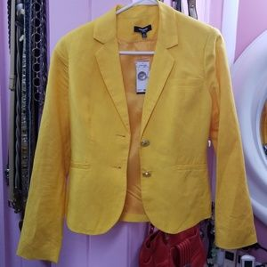 YELLOW Sweet Safron Premise 4 Petite Jacket